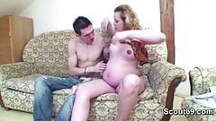 Petite Step-Son Seduce Pregnant mom to Fuck