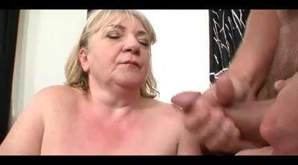 granny cumshot Fat