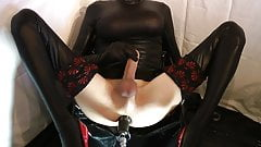 Sissy gets fucked with chastity belt