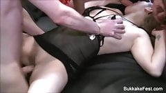 Pixiee Little And Claudia Gangbang Bukkake