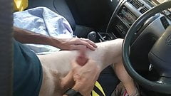 Cumpilation of cocks by the car