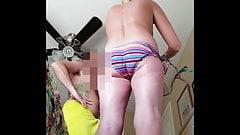 HD GF hidden cam spy affter shower sexy blond ass pussy tits