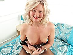 English milf Ellen doesn't wear knickers today