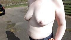 Sharron Topless at the Tracks