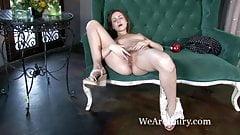 Victoria orgasms like crazy from masturbating
