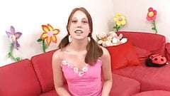 Little redhead teen Kara likes the job