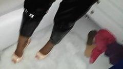 Cum in high heels