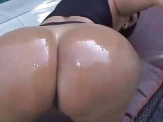 Latina milf assfucking - Big booty latina milf takes bbc