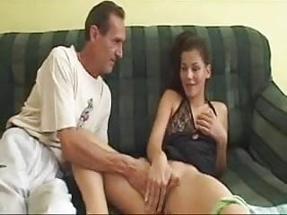 Cute Bitch Blow Old Guy