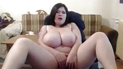 Fat BBW Ex GF with delicious Tits masturbating wet pussy