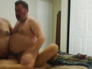 Daddy bear fucked by young guys