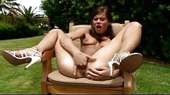 Outside masturbation Caprice