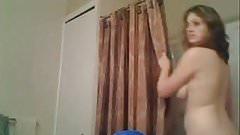 Preparing For Her Shower Voyeur Video