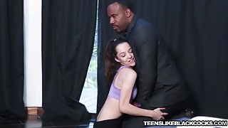 Hot brunette teen Nikki Next banged hard in her wet twat