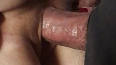 Cougar ass pulled apart shoving my cock inside her wet pussy