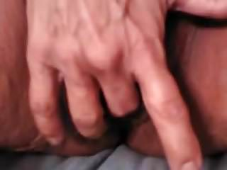fingering my grey haired pussy