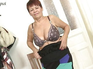 Horny granny slut playing with her wet pussy