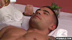 Massage Therapist Billy Santoro Fucks His Client