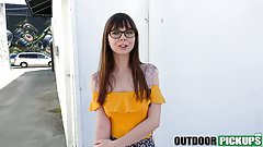 Outdoor fucking with Shae Celestine and fat cocked stud