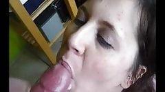 sex wife BJ&CUM swallow