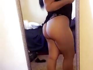 Thick latina slut showing off her fat ass in thong