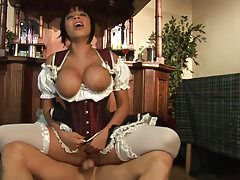 Busty brunette called Romana getting her asshole creamed
