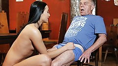 DADDY4K. Old and young lovers have fun when athletic boy...'s Thumb