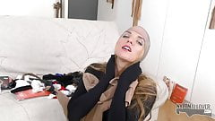 Sofi Goldfinger needs nylon all over