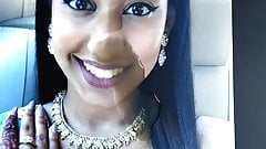Cum tribute for indian girl