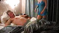 Blonde Milf Wakes Hubby for Sex