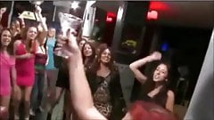 dancing redhead suck and swallows cum from a glass