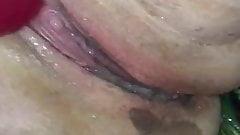 BBW wife squirting cum