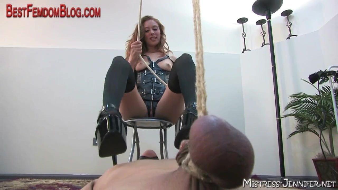 Femdom balls massage