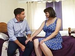 Busty British Mature Seduces Agent's Thumb