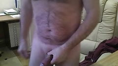 Spunk flowing after wanking to mature sluts
