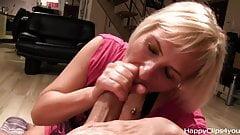 Milf Grace handjob blowjob session - part 2.