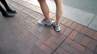 BtootyCruise: Downtown Bus Stop Leggy Honey Part 2