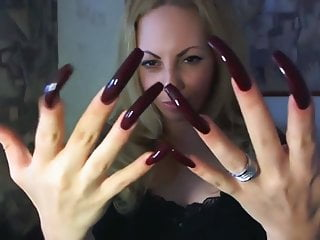 Margo showing off her sexy long nails HD