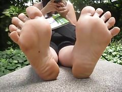 Young, wrinkled and sweaty soles Part 1