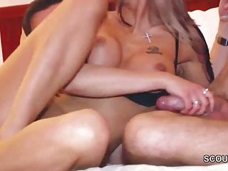 German Tattoo MILF in Privat Gangbang after Party