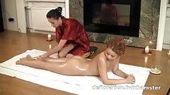 Redheaded teen gets massage