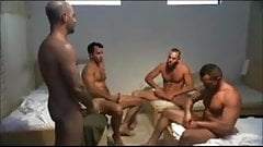 Circle jerk group sex wild in the streets