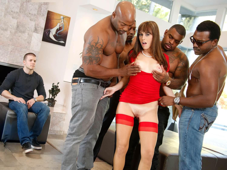 Alana Cruise Gangbang Porn interracial orgy and anal sex with alana cruise