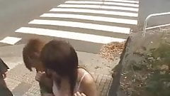 Asian Girl Stripped on the Street