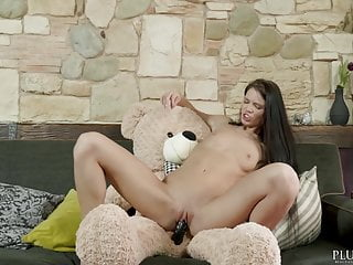 Download video bokep Russian Lovenia Lux first time sex with a teddy bear, plush Mp4 terbaru