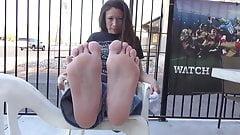 Sweaty feet fresh out of sneak