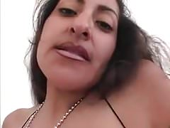 Gipsy brunette with big tits