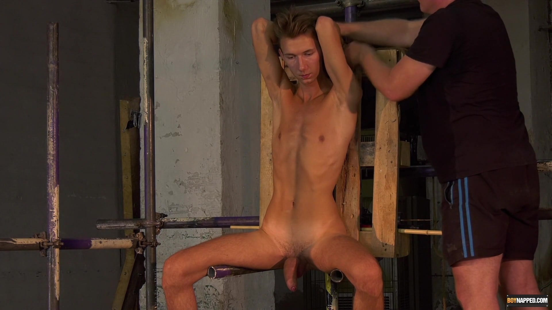 Sub twink interviewed earlier than bondage and domination